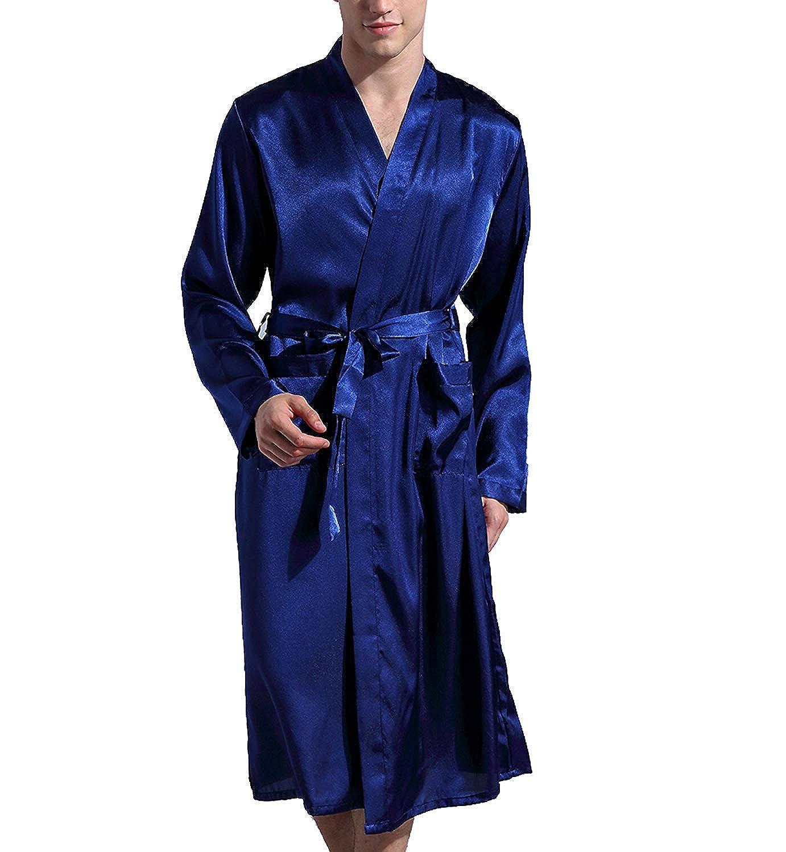 Lachi Albornoz Bata Hombre Robe Ropa de Dormir Satén: Amazon.es: Ropa y accesorios