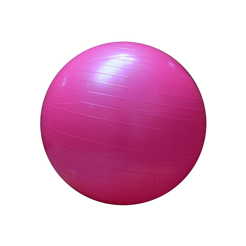 FitAndFun Balon de Yoga Pelota de Gimnasia sin Bomba Rosa Gimnasia ...