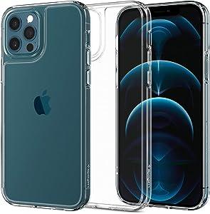 Spigen Quartz Hybrid Designed for iPhone 12 Case (2020) / Designed for iPhone 12 Pro Case (2020) - Crystal Clear