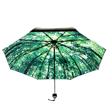 Plegado bosque Umbrella-Walk mujeres,chicas,señoras s Paraguas plegable dama moda