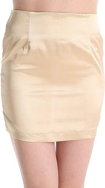 Faldas De Verano Mujer Color para Cintura Sólido Alta Mini Moda ...