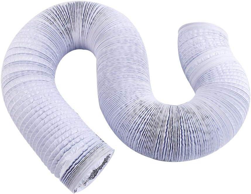 B/üro wei/ß Luftkanal HVAC Bel/üftungsschlauch K/üche Fabrik 150mm//5.9inch 50 m lang Trocknerr/äume Doppelte Aluminiumfolie Abluftrohr f/ür Wachstumszelte flexibler Luftschlauch