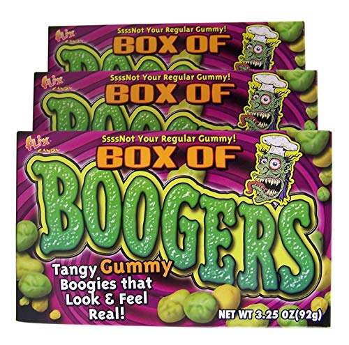 Halloween Theater Box of Booger Gummy Candy, Pack