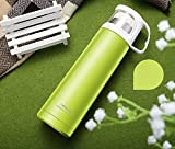 Green Stainless Steel Travel Mug Tea Water Coffee Bottle Flask Cup