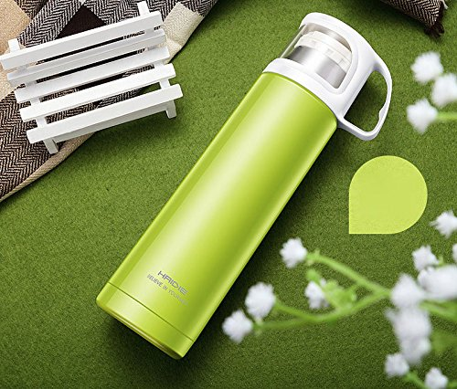 Green Stainless Steel Travel Mug Tea Water Coffee Bottle Flask Cup by Travel Mugs