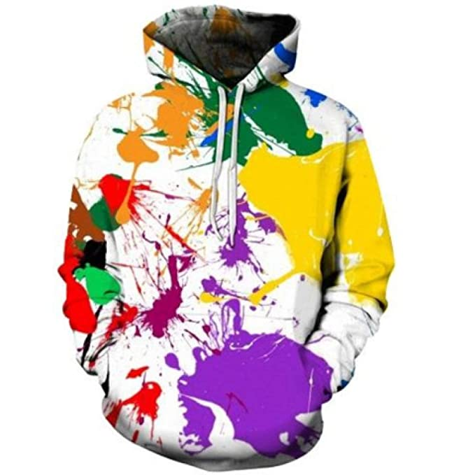 Blwz Unisex Pintura 3D Graffiti Imprimir Hoodies,Hombres Mujeres Pullover Pareja Ocio Al Aire Libre Sudaderas Jerseys De Manga Larga Abrigo Con Bolsillos ...