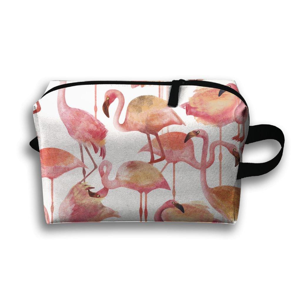 DTW1GjuY Lightweight And Waterproof Multifunction Storage Luggage Bag Flamingo Pink