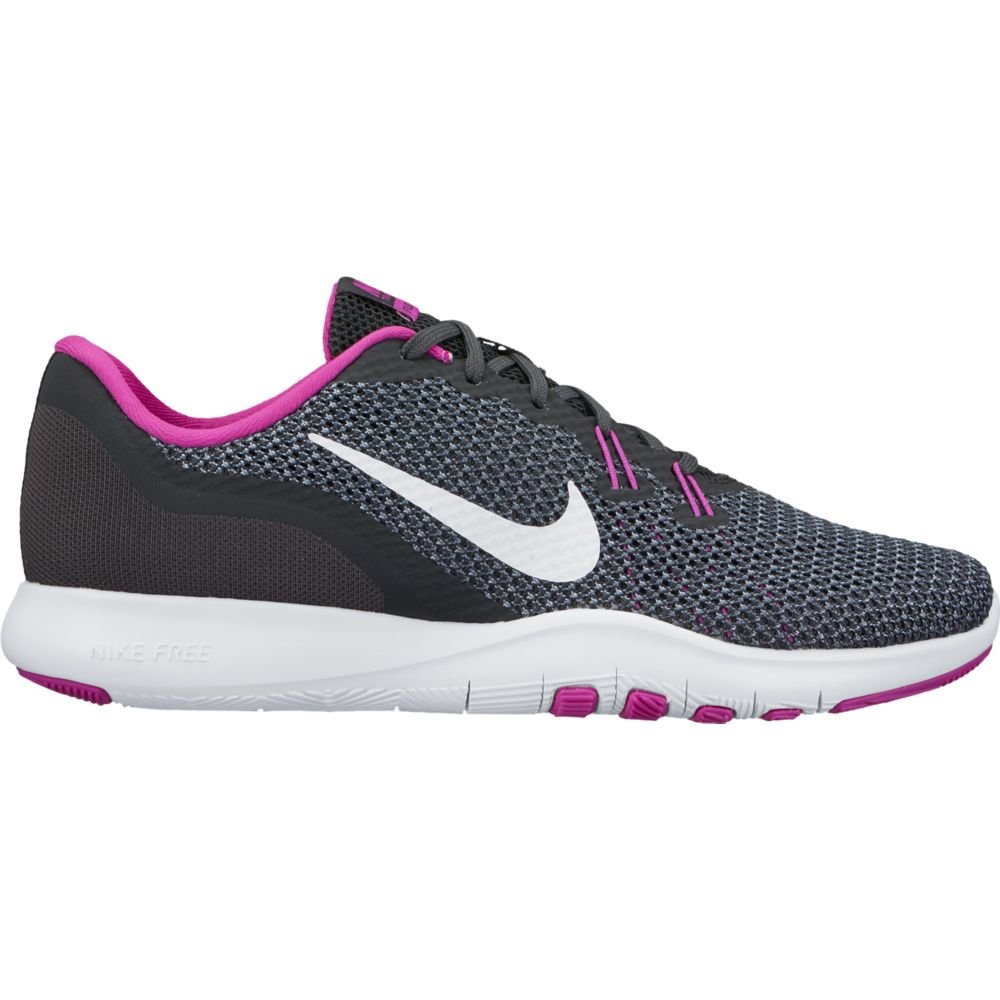 Nike Womens Flex Trainer 7 Anthracite/White/Dark/Grey Training Shoe 8.5 Women US