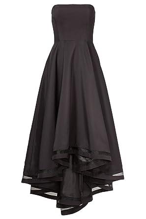AngelDragon Elegant Strapless Hi-lo Black Evening Gowns Formal Prom Dresses UK-4 Black
