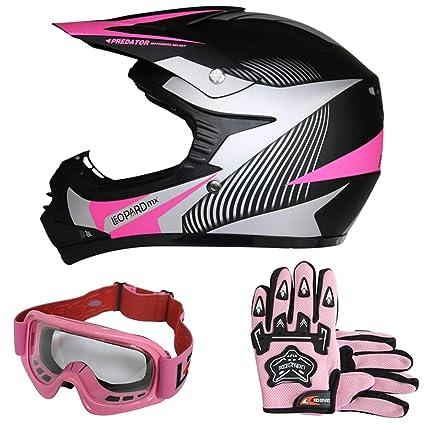 Leopard ni/ños Gafas de Motocross Bicicleta Moto ATV Patio Gafas de Protecci/ón Rosado