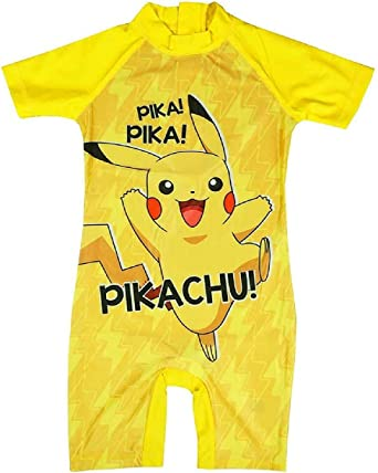 Childrens Kids Boys Pokemon Pikachu Swimming Costume Surf Suit Sun Protection