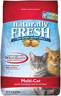 product image for Naturally Fresh Walnut-Based Multi-Cat Household Quick-Clumping Cat Litter, 26 lb. Premium Pack
