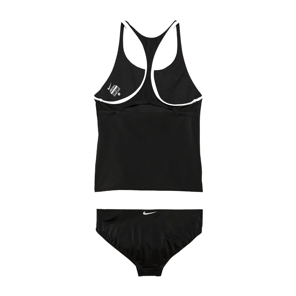 78900e117808e Amazon.com: Nike NESS8601 Girls' Solid Racerback Sport Tankini Set, Black -  10: Sports & Outdoors