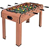 """Giantex 37"""" Foosball Table, Wooden Competition Soccer Game Table w/ 2 Balls, 2 Cup Holders, Recreational Table Football for Arcades, Game Room, Bars, Parties, Family Night"""