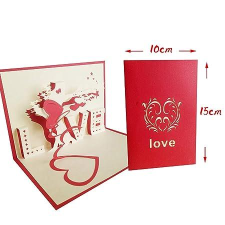 Greetuny 1X Tarjeta de felicitación 3D Tarjeta boda Original ...