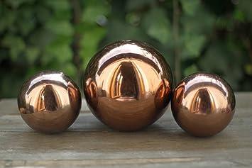 Condecoro Dekokugel Bronze Glänzend Gartenkugel Metallkugel Deko