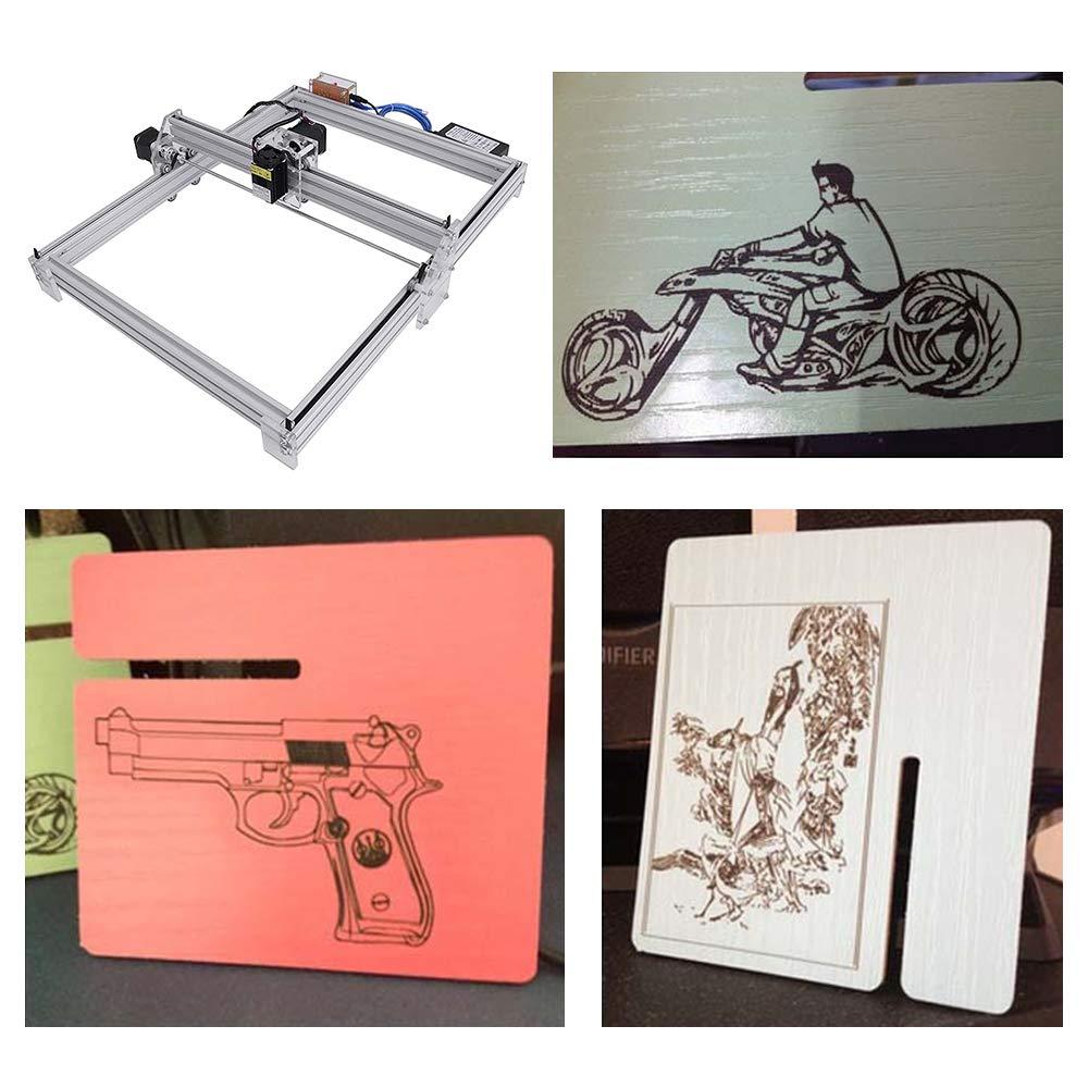 500MW TOPQSC Carving Machine Kit 12 V USB Desktop CNC Laser Graviermaschine Laser Engraver Carver Einstellbare Laser Power Drucker Carving /&Schneiden mit Schutzbrille
