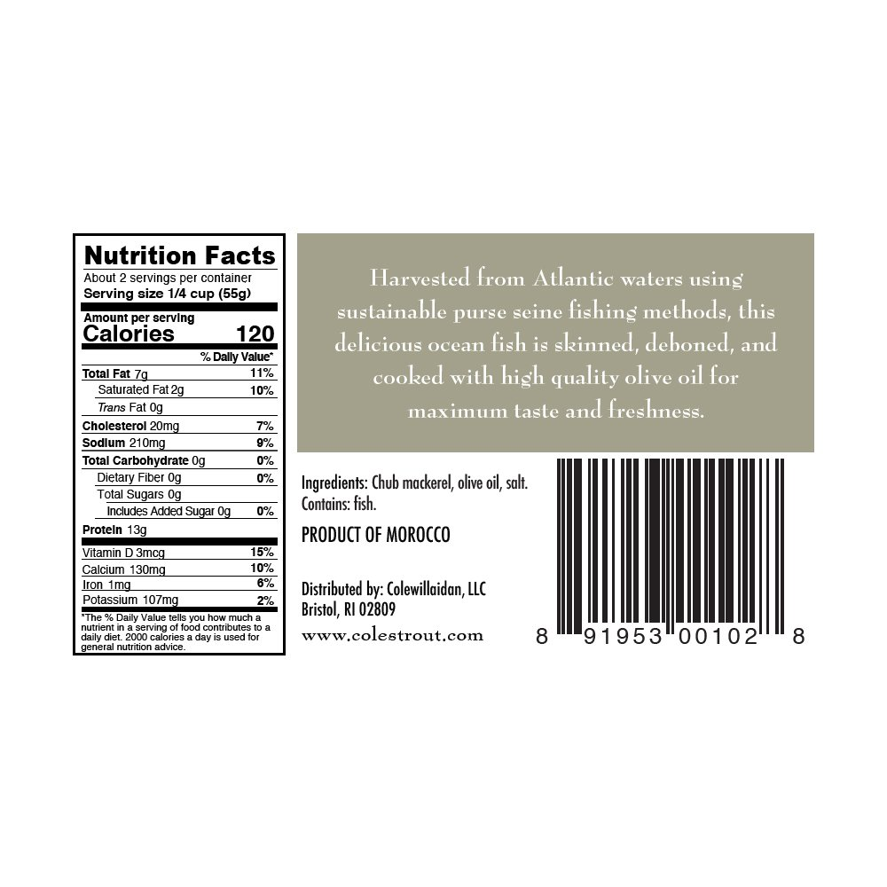 COLES MACKEREL OLIVE OIL, 4.4 OZ (pack of 10) by Coles (Image #2)