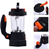 KingCamp Rechargeable Camping Lantern, USB Charging Port, Spotlight, Emergency SOS LED Flashlight, Wind Up Dynamo Lantern