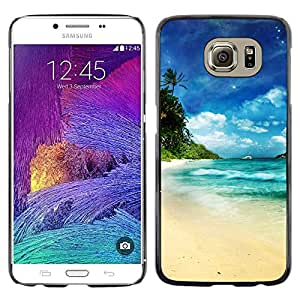 Caucho caso de Shell duro de la cubierta de accesorios de protección BY RAYDREAMMM - Samsung Galaxy S6 - Dream Island Paradise