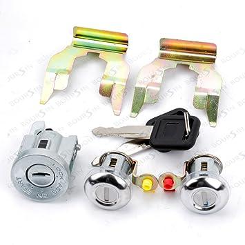 Kit de reparación de cilindro de Cerradura de puerta para VW Golf 4 Bora MK4 lado delantero izquierdo y derecho 4/5 puertas: Amazon.es: Coche y moto