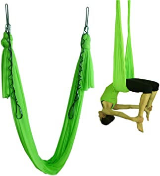 Amazon.com : Wellsem Elastic Yoga Aerial Swing Yoga Hammock ...