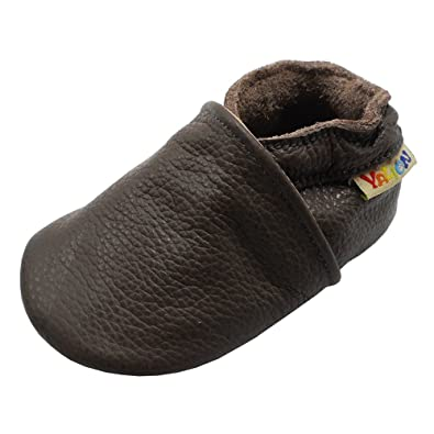 Amazon.com | Yalion Baby Soft Sole Leather Shoes Toddler First Walking Moccasins with Suede Sole | Slippers