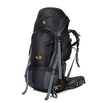 2060fdbc9 YWJ 80L Mochila Viaje Trekking Excursionismo Senderismo Alpinismo Escalada  Camping Hombre Mujer, para Hombres Mujeres