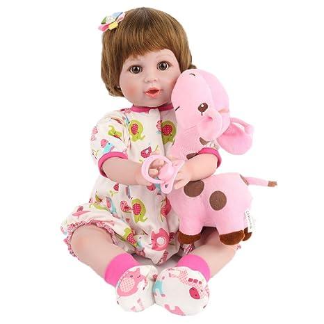 JHGFRT Reborn Baby Doll Realista Silicona Suave Recién ...