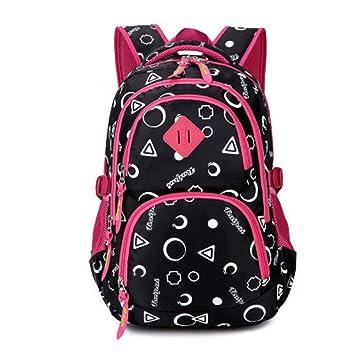 HhGold Mochila para Niños Mochilas Escolares Juveniles Color Rosado (Color : Negro): Amazon.es: Hogar