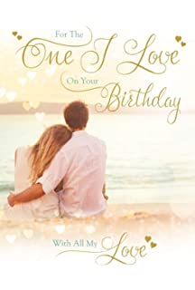 The One I Love Birthday Card With Keepsake