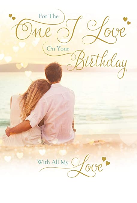 Especially For The One I Love On Your Birthday Male Good Quality Card With A Lovely