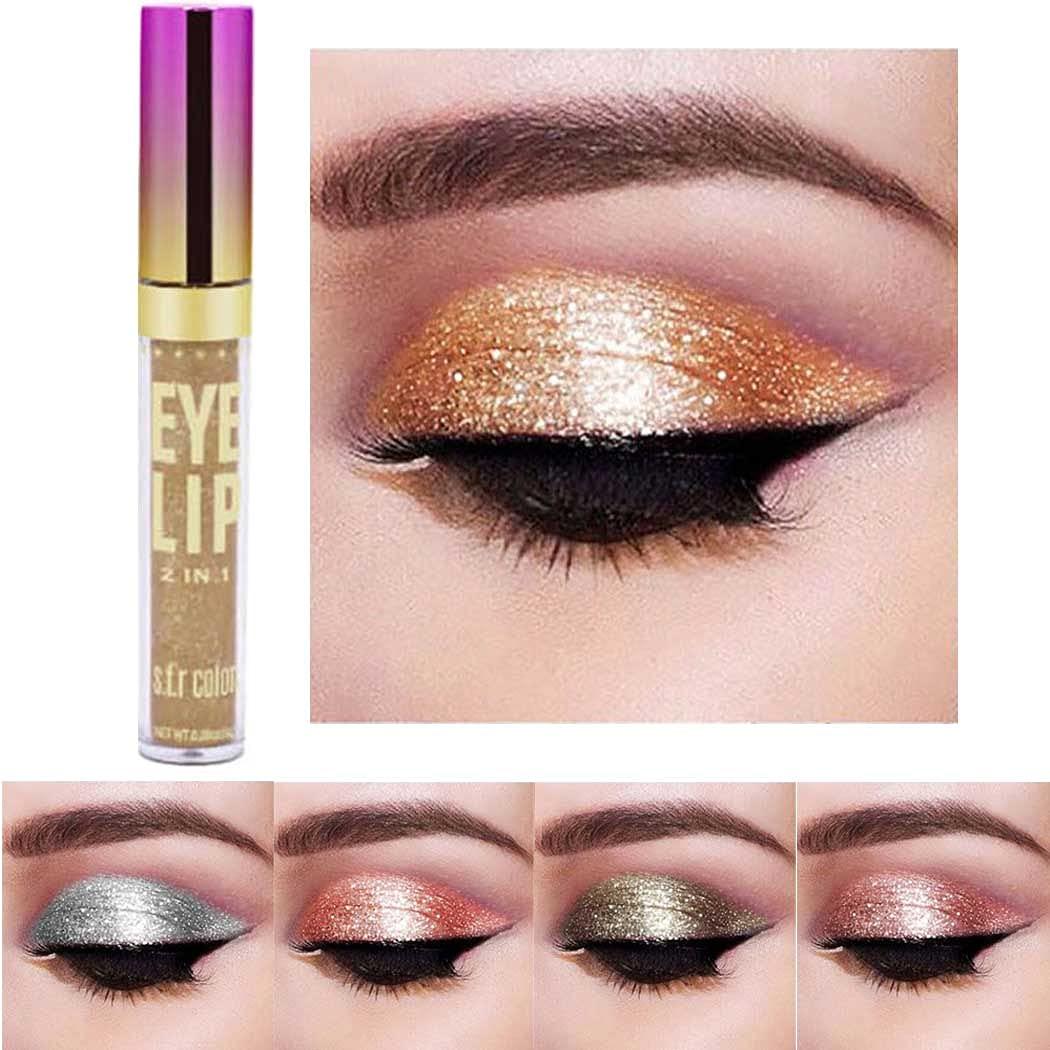 Edanta Glitter Eyeshadow Shimmer Liquid Eyeshadows Long Lasting Eye Shadow Makeup Metallic Shining Liquid Eye Make up for Women and Girls Pack of 1 (Gold 1)