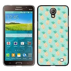 Menta de la piña 420 Weed Cannabis- Metal de aluminio y de plástico duro Caja del teléfono - Negro - Samsung Galaxy Mega 2