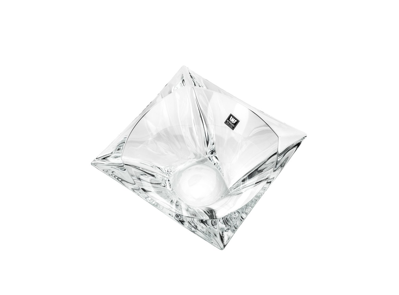 Aurum Crystal 5'' Bowl Small Quadron, Decorative Centerpiece Fruit Bowl, Wedding Gift