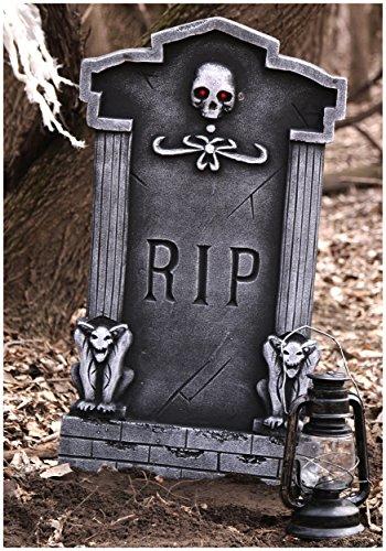 36'' Light Up Gargoyle Tombstone Halloween Decor
