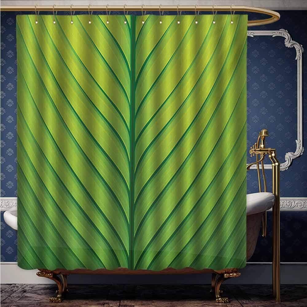 HouseLook - Cortina de baño de Color Verde con diseño de ...
