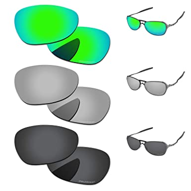 60977193b91 PapaViva Lenses Replacement for Oakley Felon Black Grey   Chrome Silver    Bluish Green