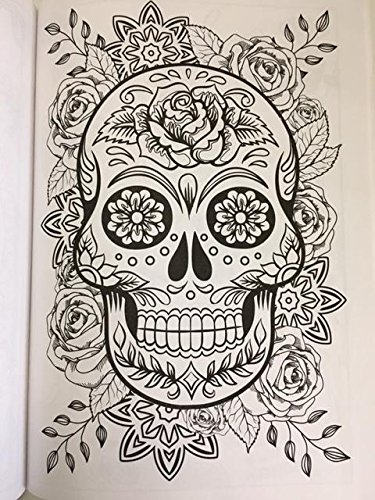 Amazon Day Of The Dead Advanced Coloring Book For Adults Toys Games