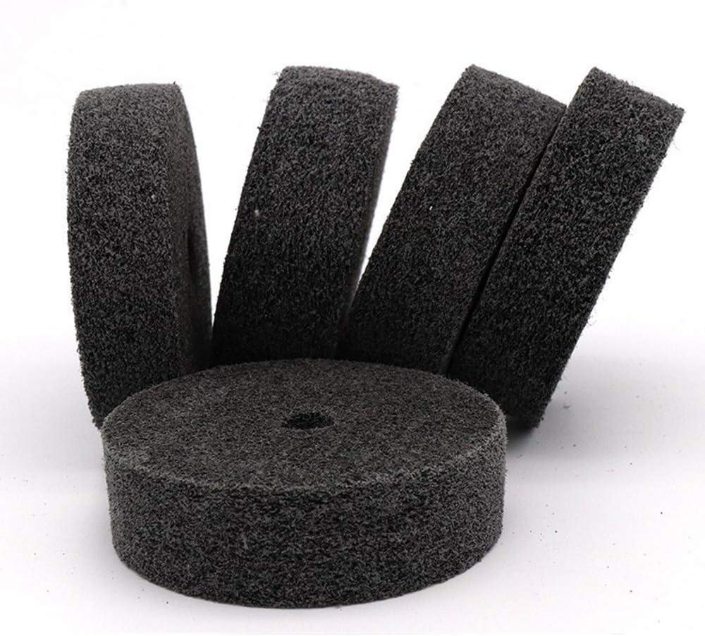CHUNSHENN Durable 5 PCS 3 Inch Round Table Mill For Nylon Fiber Non-woven Polishing Wheel Wheel Grinding Wheel Nylon Wheel Buffing Wheels