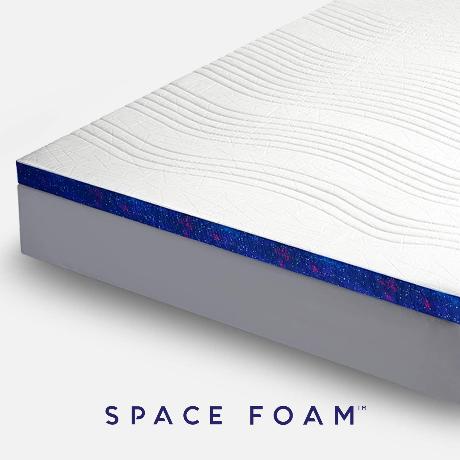 Space Foam Cooling Gel Infused 3-Inch Thick Mattress Topper Supportive for Deep Sleep Made of Ventilated and Breathable CertiPUR US Certified Memory Foam with IceFibre Cover King