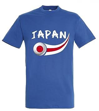Supportershop – Camiseta Japón Hombre, Azul Royal, FR: L (Talla Fabricante: