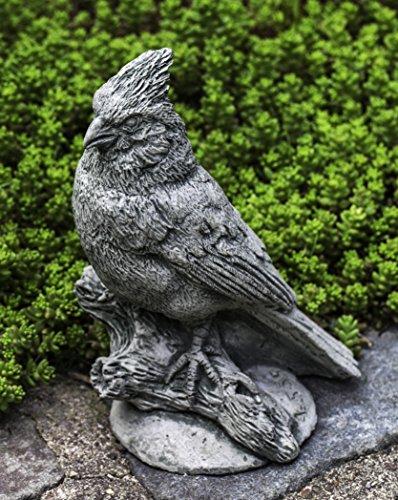 Campania International A-505-AS Northern Cardinal Statue, Alpine Stone (Cardinal Garden Stone)