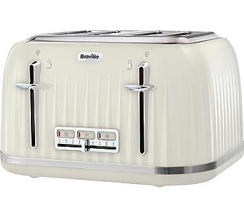 b9f4eb1a76eb Breville VTT702 Impressions 4 Slice Toaster - Cream: Amazon.co.uk ...