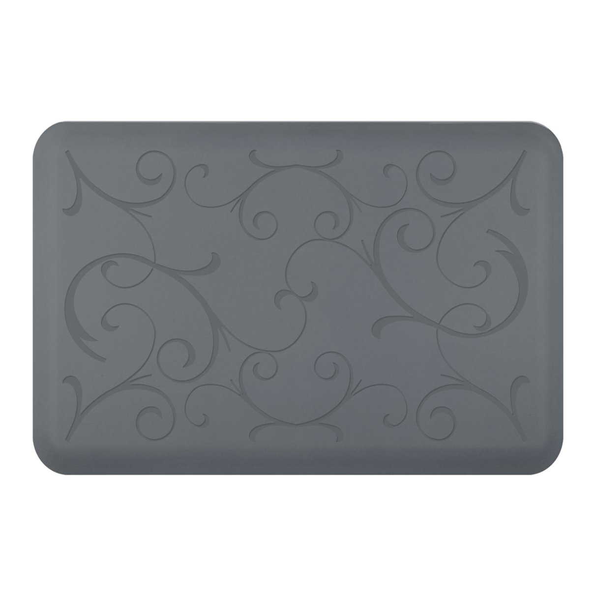WellnessMats Bella Motif Anti-Fatigue Mat, Gray, 36 Inch by 24 Inch by WellnessMats