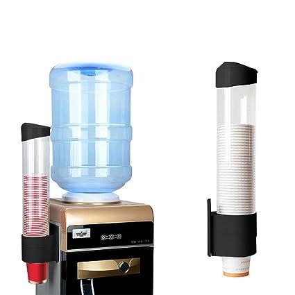 Dispensador de taza Montado en la pared para vasos de papel plástico biodegradable Conos Copas Escuela