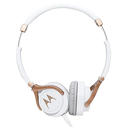 aa70b7e517b Buy Motorola Pulse 3 Wired Headphones (White and Gold) Online at Low Prices  in India - Amazon.in