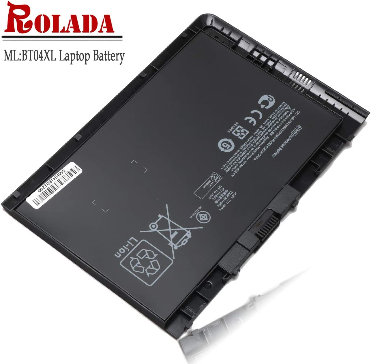 BT04 BT04XL Battery Replacement for HP EliteBook Folio 9470 9470M Series HSTNN-IB3Z HSTNN-I10C HSTNN-DB3Z H4Q47AA H4Q48AA BT04 BA06 Spare 687945-001 696621-001 687517-1C1 14.8V 52Wh