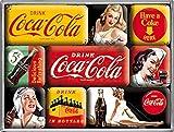 Coca Cola Yellow set of 9 Mini Fridge Magnets in box (na)
