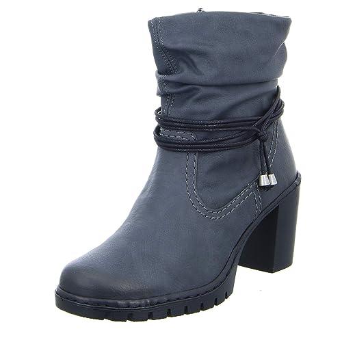 989b39f14a6 Rieker Y2591 - Botas sin Cremallera de Sintético Mujer: Amazon.es: Zapatos  y complementos